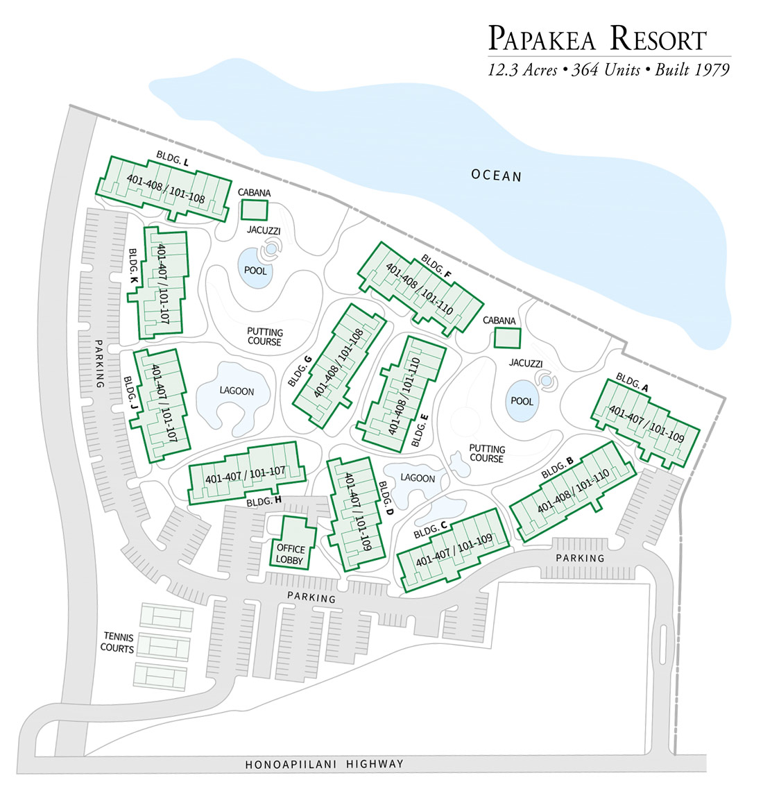 Papakea Resort Property Map